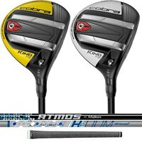 New 2019 Cobra King F9 Speedback Men's Fairway Wood - Yellow or Avalanche White