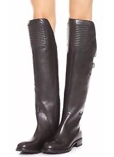 New $598 MARC JACOBS 'Easy Rider' Black Leather Over-the-Knee Boots, 8, 38