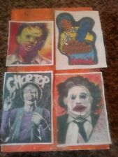 Horror Patch lot leatherface and choptop 4 by 5 canvas 4 in all horror