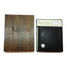 Men Wallet Bifold Premium Genuine Leather By ROLFS New In Box Made in India
