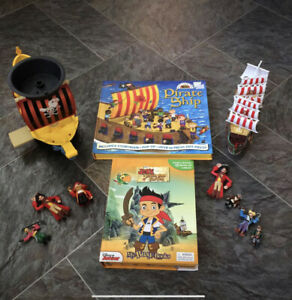 Pirate Toys Bundle Including Two Ships, Books And Figures