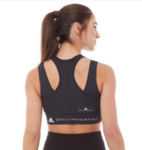 Women's adidas Stella McCartney Triathlon Crop Top Black RRP £54.99 DW9550