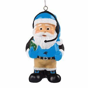 Carolina Panthers Coach Santa Resin Holiday Christmas Tree Ornament New
