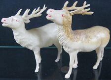 2 Vintage 1930s-40's Celluloid Large Reindeer