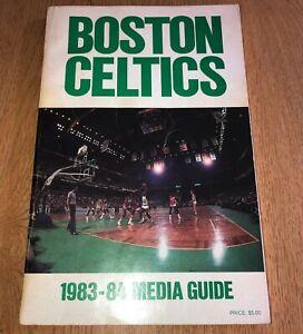 1983-84 NBA Basketball Boston Celtics Official Media Guide Book Excellent Cond