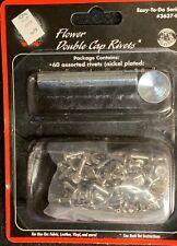 Tandy Leather --  CRAFTOOL -- Flower Double Cap Rivet Setter Kit -- Anvil