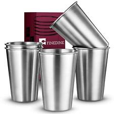 Premium Grade Stainless Steel Pint Cups Water Tumblers For Any Occasion - 5 Pcs.