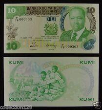 KENYA 10 Shillings Paper Money 1988 UNC