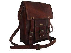 Men's Vintage Genuine Leather Briefcase Messenger Shoulder Bag Handbag Business
