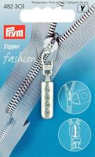 Prym FASHION-zipper glissière-zipper strass argent mat 1 st 482301