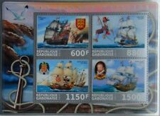 Sailing Ships from the Middle Ages Francis Drake m/s Gabon 2017 MNH #VG2184