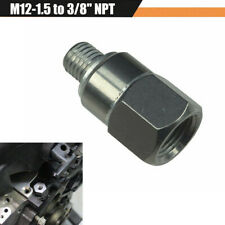 "Oil Pressure Adapter Water Coolant Temp Sensor Male M12-1.5 to Female 3/8"" NPT"