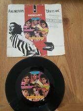"ANIMOTION Obsession / Turn Around 7"" Single Vinyl 1985 VG+"