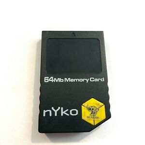 Nintendo Gamecube nYko Used Aftermarket 64MB Memory Card 1019 Blocks Save