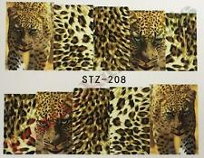 Full Tip Leopard Print Nail Art Stickers Water Decals - Sheet No. STZ-208
