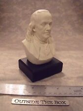 "Benjamin Franklin Bust / Statue : NEW IN BOX  6"" High / WHITE"