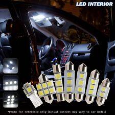 6 Pcs White Car LED Interior Lights Package  For 2010-up Hyundai Tucson