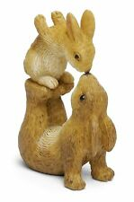 Nose To Nose, Bunnies Kissing, Rabbits Kissing, Fairy Garden Bunnies