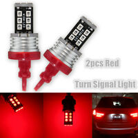 2x T25 3157 Red High Power 2835 SMD 15 LED Car Tail Brake Stop Light Bulbs  0