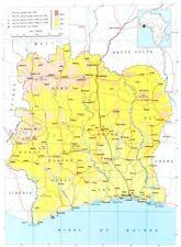 Costa d'Avorio, Côte d'Ivoire; Repubblica della Costa d'Avorio 1973 vecchio vintage carta grafico