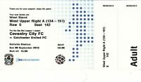 Ticket - Coventry City v Colchester United 08.09.13