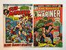 SUBMARINER #56 Alone Against Atlantis! & #72 Marvel Comic Book ~ VF