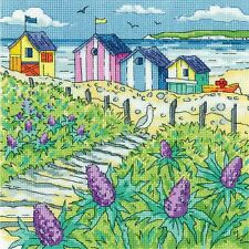Heritage Crafts Cross Stitch Kit - Sea Holly Shore (Aida)