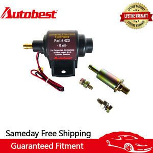 Autobest 42S Low Pressure 2-3.5 PSI Universal Micro Electric Fuel Pump 12V