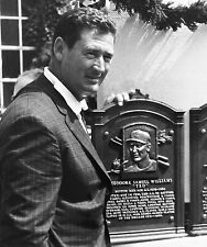 TED WILLIAMS RED SOX LEGEND HALL OF FAME INDUCTION 8x10 !!