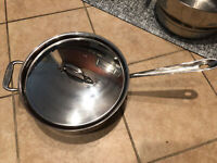 All-Clad 4206 Stainless Steel Tri-Ply Bonded Dishwasher Safe Deep Saute Pan with