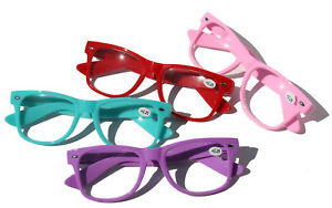 2 or 4 Pairs Classic Reading Glasses in Super Fun Color - Magnification Reader