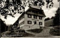 Wieden Schwarzwald alte Ansichtskarte 1963 Partie am Gasthaus zum Kranz Balkon