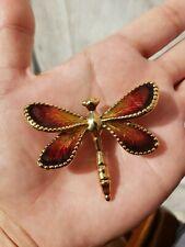 Brooch 18K Yg Puffy Yellow Gold New listing Aya Azrielant Artform Dragonfly Enamel Pin