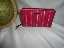 Kate Spade Cameron Heart Stripe Medium Bifold Wallet Cranberry Cocktail