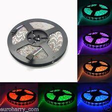 5M 5050 RGB LED SMD Strip Band Leiste Lichterkette Licht Streifen Netzteil Trafo