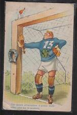 SPORT CALCIO Goalkeaper Soccer PC Circa 1940 ITALY Comic