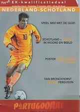 NETHERLANDS / HOLLAND  v SCOTLAND ~ EURO QUALIFIER ~ 19 NOVEMBER 2003