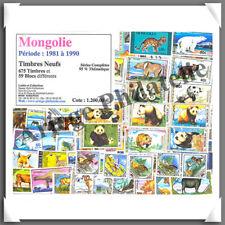 MONGOLIE - Timbres NEUFS - 675 Timbres et 59 Blocs - Années 1981 à 1990