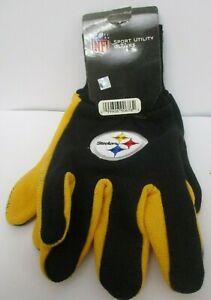 Pittsburgh Steelers GARDEN WORK GLOVES ! SLIGHTLY IRREGULAR ! FREE SHIPPING !