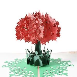 3D Pop-Up Rhododendron Greeting Card for Birthday Mothers Father's Day Wedding