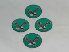 "4 - GREEN EAGLE BIRD WHEEL RIM CENTER CAP ROUND DECAL STICKER LOGO 1.75"" / 44mm"