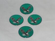 4 Green Eagle Bird Wheel Rim Center Cap Round Sticker Logo 175 44mm Dia