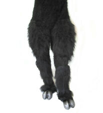 Legs & Hooves Black Hairy Pants & Feet Beast Adult Zagone Halloween Costume
