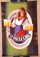 Vintage Beer Poster Advertising Ad 30 x 20 Inches St Pauli Girl Bremen Germany b