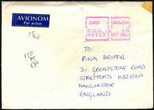 JUGOSLAVIA 1991 MACCHINA etichetta commerciale di copertura per UK #C43593