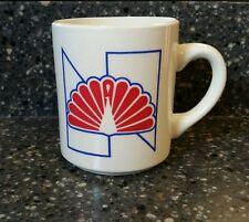 NBC Peacock Coffee Mug Red Feathers  Ceramic Cup Rare.