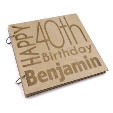 Personalised 40th Birthday Engraved Large Wooden Scrapbook Photo Album LWOD-16