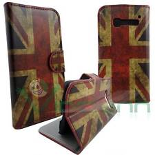 Custodia bandiera INGLESE VINTAGE per Alcatel One Touch Pop C5 cover book stand