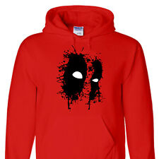 Deadpool Hoodie - Marvel Inspired Comics Eyes Face Kids & Mens Unisex Girt Hoody