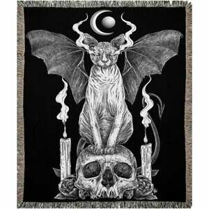Customized Ancient Beast Cat Witchcraft Fleece Blanket For Occult & Dark Arts